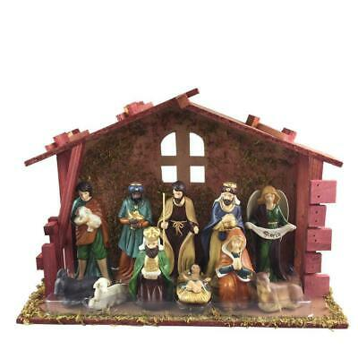 £17.70 • Buy Home Accents 13 Piece Nativity Scene Set With Stable  New
