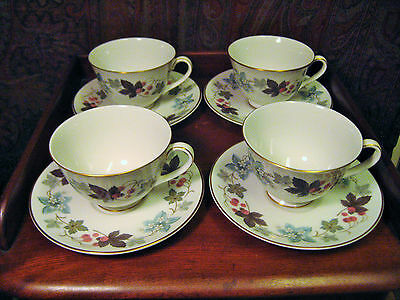 $ CDN59.95 • Buy ROYAL DOULTON 4 CUPS AND SAUCERS CAMELOT PATTERN TC1016 TRANSLUCENT CHINA C 1970