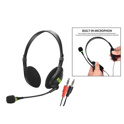 3.5mm PC Headset With Mic Noise Canceling Lightweight For Skype Call Centers • 6.92£
