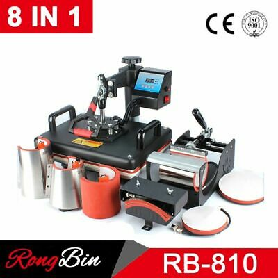 AU637.32 • Buy Heat Press Printer Machines Combo Sublimation 8 In 1 Internal Digital Equipments