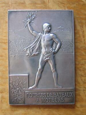 £1500 • Buy Silver Winner's Medal For Motorboat Racing 1900 Paris Expo / Olympic Games Rare