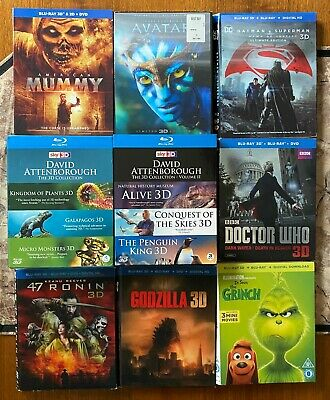 AU9.01 • Buy 3D Blu-ray SLIPCOVERS ONLY, You Pick!