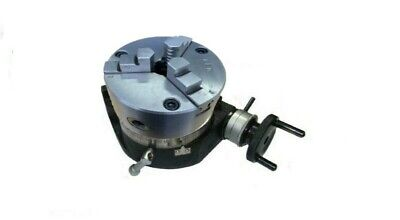 £120 • Buy Rdgtools New 100mm / 4  Rotary Table With Aed 3 Jaw Lathe Chuck