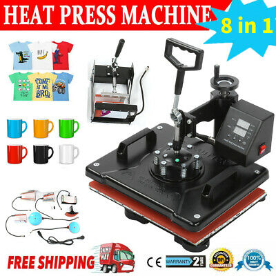 AU1291.42 • Buy 8 In 1 Heat Press Machine Digital Transfer Sublimation Plate T-Shirt Mug 15 X15