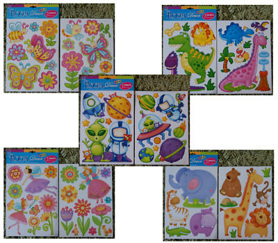 £0.99 • Buy Boys Girls Baby Jungle Butterfly Dinosaur Fairy Removable Wall Stickers