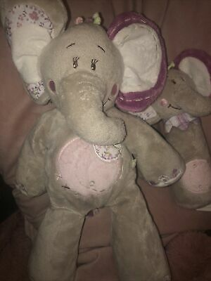 £15 • Buy Noukies Comforter Musical Elephant Kali Grey Lilac Floral NOUKIE'S With Soft Toy