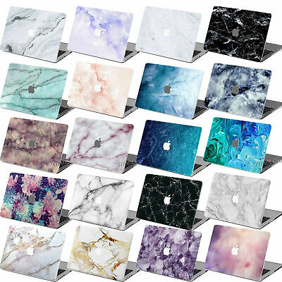 $15.63 • Buy Classic Marble Print Rubberized Hard Cut Out Case Key Cover For Macbook Pro Air