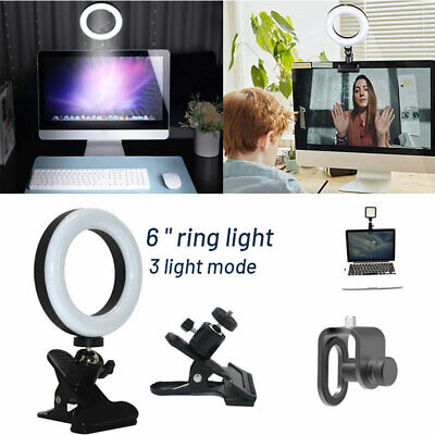 USB Video Selfie Led Ring Light Clip On Lighting For Monitor Clip On Laptops • 13.59£