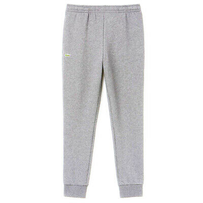 Lacoste Men's Essential Drawstring Cotton Jogging Bottoms Grey Tracksuit Pants • 44.99£