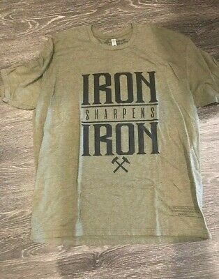 Victory Apparel Men's Iron Sharpens Iron T-Shirt Green Size 2XL Brand New Cool!! • 11.46£