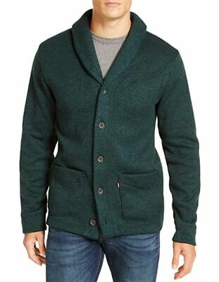 $27.99 • Buy Levi's Men's Front Button Down Pocket Cardigan, Forest Green, XL - NEW