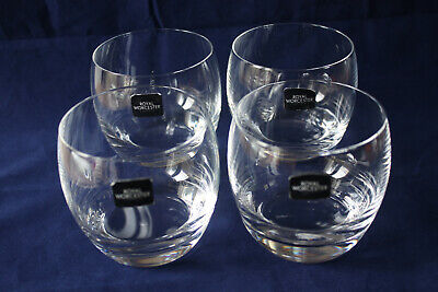 £14.99 • Buy 4 Royal Worcester Grand Chateau Kwarx Short Round Tumblers Glasses