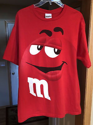 $8.50 • Buy Red M&M's Candy Chocolate Vintage Shirt Men's Large Great Condition!  WOW!!!