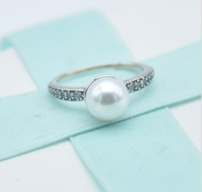 UK Genuine Authentic Pandora Elegant Beauty Pearl Ring 191018P + Pouch RETIRED  • 17.89£