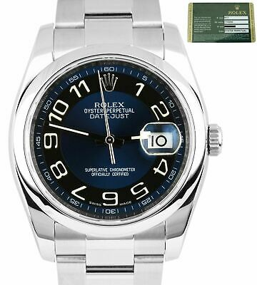 $ CDN8238.26 • Buy 2012 Rolex DateJust 36mm 116200 Blue Black Circle Arabic Dial Smooth Oyster