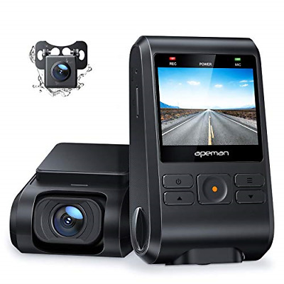 AU114.74 • Buy APEMAN Dash Cams, Front And Rear, Support GPS 1080P Full HD Dual Lens Car Camera