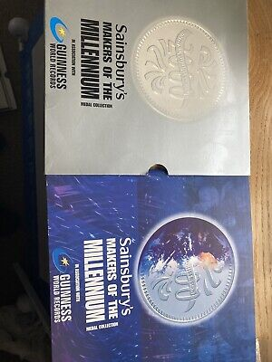 £10 • Buy Complete Sainsburys Makers Of The Millenium Medal Collection Book And Coins