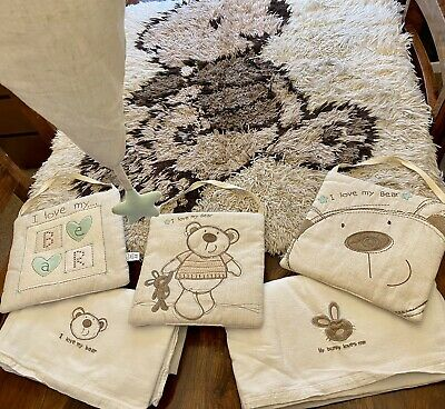 I Love My Bear - Cot Bedding Nursery Set Bundle - Babies R Us - Rug, Lamp Shade • 20£