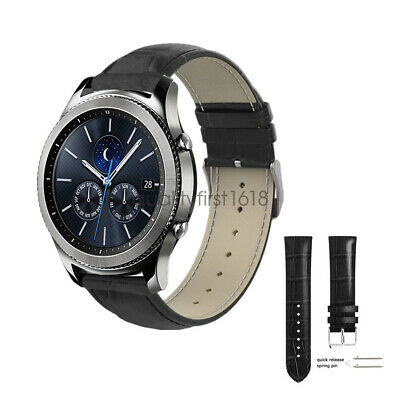 AU14.99 • Buy 22mm Crocodile Leather Watch Band Strap For Samsung Gear S3 Classic/Frontier