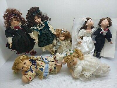 $ CDN126.22 • Buy Vintage Victorian Style Porcelain Doll Lot Of 7