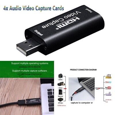 Portable HDMI To USB Video Capture Card 1080P Recorder Game / Live Streaming • 22.39£