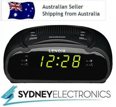 AU22.95 • Buy Lenoxx AM/ FM LED Display Clock Radio Alarm Clock- CR21