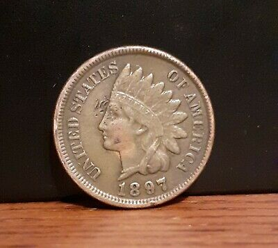 1897 United States Of America USA 1 Cent Indian Head Bronze Coin • 4.99£