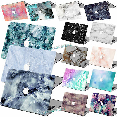 $14.69 • Buy Marble Painted Rubberized Hard Cut Out Case KB Cover For New/Old Macbook Pro Air