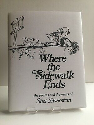 Where The Sidewalk Ends By SHEL SILVERSTEIN. Pre-owned, In Excellent Conditions. • 9£
