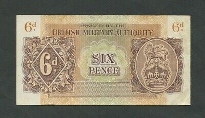 £24.95 • Buy BRITISH MILITARY AUTHORITY  6d  WWII  Krause M1  VF  Banknotes