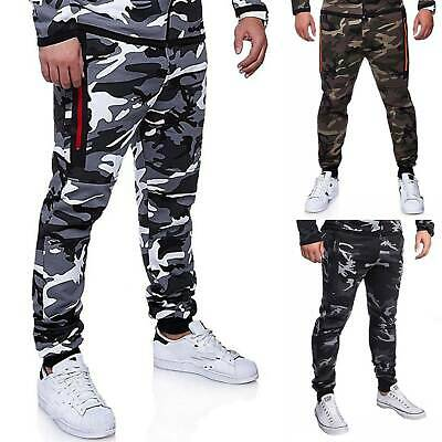 £11.49 • Buy Mens Camo Joggers Sweatpants Sport Gym Tracksuit Bottoms Casual Jogging Trousers