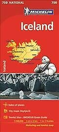 Iceland - Michelin National Map 750 : Map, Paperback, Brand New, Free Shipping • 10.59£