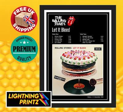 £11.99 • Buy The Rolling Stones Let It Bleed Album Cover Music Band Poster A4-A0