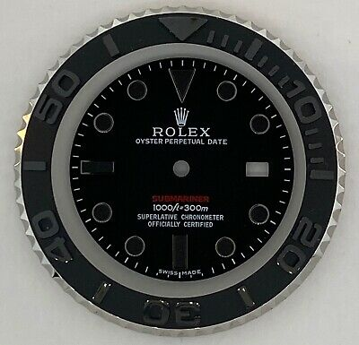 $ CDN731.13 • Buy     Beautiful Set Of Black Submariner Dial And Complete Bezel For Rolex Subs
