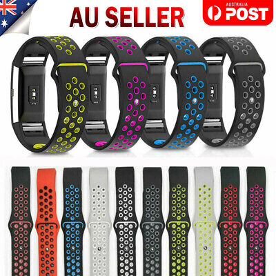 AU11.99 • Buy Sports Watch Band Strap For Fitbit Charge 2 Silicone Bracelet Smart Wristbands