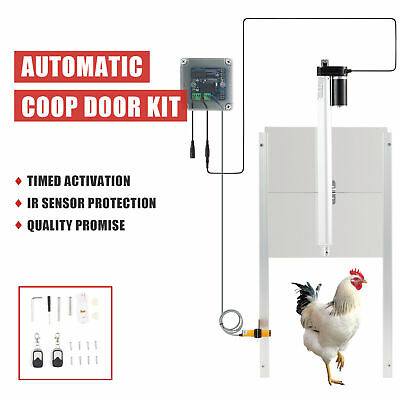 £89.99 • Buy Automatic Chicken Coop Door Opener Kit With Remotes IR Sensor And IP44 Timer 66W