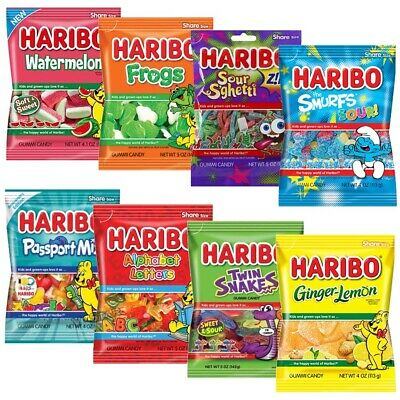 £9.89 • Buy HARIBO GUMMI CANDY SHARE SIZE FRUIT FLAVOUR SWEETS - ( 2 / 4 / 6 Bags)