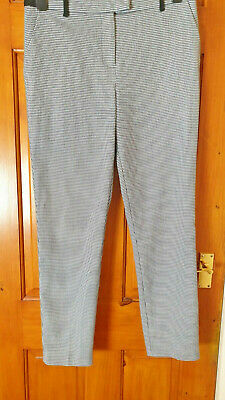 £11.99 • Buy Topshop Size 10 Smart Evening Work Office Dogtooth Check Trousers
