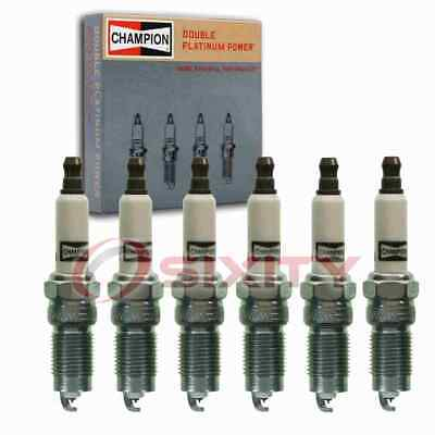 $33.48 • Buy 6 Pc Champion Double Platinum Spark Plugs For 2005-2010 Ford Mustang 4.0L V6 Cu