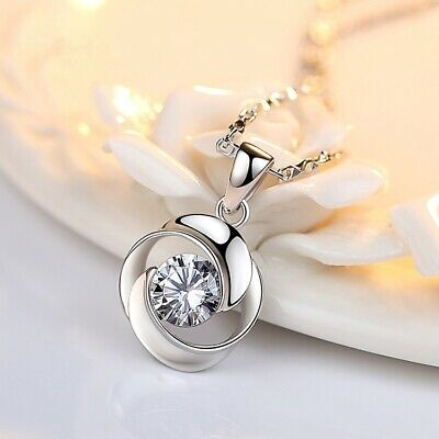 AU22.17 • Buy 925 Sterling Silver Necklace Valentines Day Gift For Her Mom Wife Girlfriend