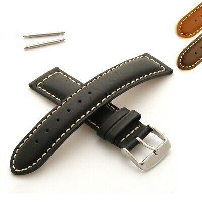 Calf Leather Watch Strap Padded With White Stitching • 14.95£