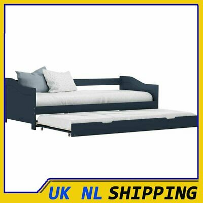 £218.99 • Buy Pull-out Sofa Bed Frame Grey Pinewood 90x200cm Guest Sleepover Beds ADLUK