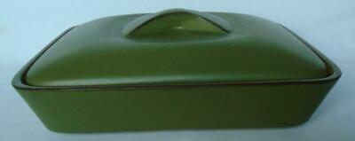 Vintage Denby Chevron Lidded Rectangular Two Compartment Casserole Dish • 22£