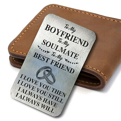 £3.39 • Buy Perfect Valentines Day Gift For Him Her Anniversary Present Metal Card Keepsake