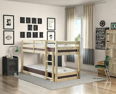 £189.95 • Buy Strictly Beds And Bunks Stockton 3ft Single Low Solid Pine Bunk Bed (EB68)