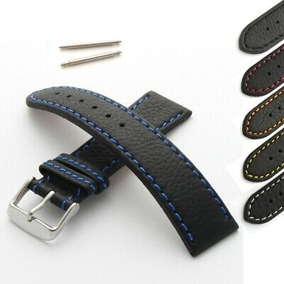 Calf Leather Watch Strap With Coloured Stitching • 14.95£