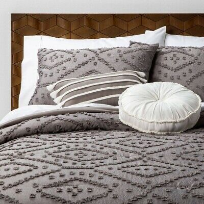 $ CDN96.80 • Buy 5pc OPALHOUSE Jacquard Olympia Clipped Comforter Set | FULL/QUEEN Gray | 🆕