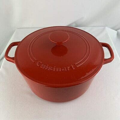 $ CDN107.84 • Buy Cuisinart Dutch Oven Roaster Enameled Cast Iron Red 5 QT C1650-25