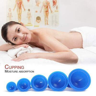 12x Silicone Medical Vacuum Massager Cupping Cups Therapy Anti Cellulite Set AS • 9.84£