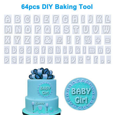 64x Cookie Cutters Alphabet Letter Mold Fondant Cake Biscuit Baking Mould Kit UK • 4.99£